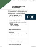 10 Ways to Remove Windows Genuine Advantage Notifications