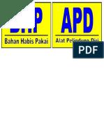Stiker Apd