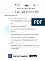 Important Current Affairs September 2017 Capsule With PDF