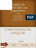 CLASE 3 Componentes Del Lenguaje