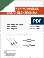Komponen-komponen Dasar Elektronika