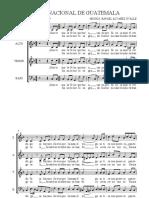 Himno Nacional de Guatemala (4 Voces)