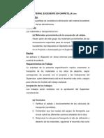 Eliminacion de Material Excedente en Carretilla