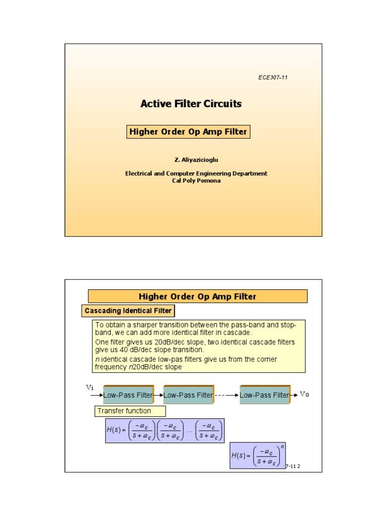 Active Filter Circuits 2 Electronic Low Pass Operational Amplifier Notch Circuit The Is Quite