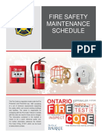 Fire Safety Maintenance Plan