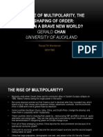 article review of The Rise of Multipolarity, The Reshaping Of Order