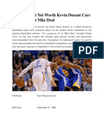 Kevin Durant Net Worth | Kevin Durant Cars | Kevin Durant Nike Deal