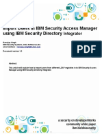 Import Users in IBM Security Access Manager Using IBM Security Directory Integrator