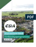 Verkiezingsprogramma CDA 2018 - 2022