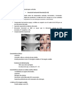 Desviaciones Disociadas y Anisotropias Verticales