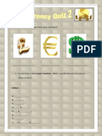 Currency Quiz 2 Activities Promoting Classroom Dynamics Group Form 27190