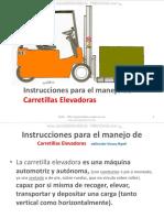 Curso Instruccion Operacion Montacargas Carretillas Elevadoras