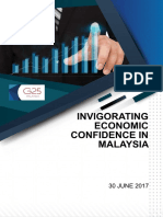 INVIGORATING ECONOMIC CONFIDENCE IN MALAYSIA - G25 REPORT