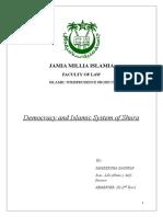 Democracy and Islamic System of Shura