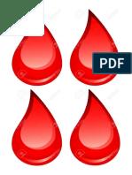 Plantillas Gotas Sangre