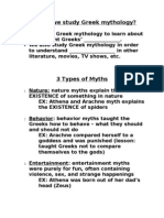 3 Types of Myths Notes