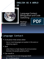 Bilingualism and Code Switching