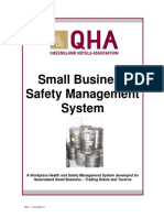 Small Business Safety Management System - Contents-Introduction and Instructions for Use