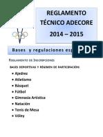 Reglamento Tecnico y Bases 2014-2015 Oficial(1)