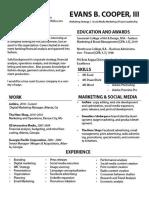 Resume -  Fashion Internship