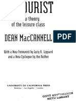 Dean MacCannell the Tourist a New Theory of Org