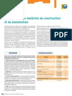 BTS Maintenance Des Materiels de Construction Et Manutention