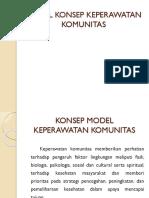 Model Konsep Keperawatan Komunitas