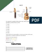 Apostila de Música Aprendendo a Tocar Violão