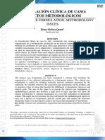 (AR)Formulación Clínica de Caso. Aspectos Metodológicos (2013)