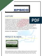 Pepsi Co in India