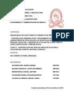 Presupuesto Edificio Anexo Hospital Rosales (Reparado)