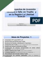 Semana 2 Qué Proyectos de Inversión Necesita o Faltan en Trujillo y Otras Ciudades.