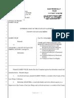 Velie v. Hill - Nov. 17, 2017 Lawsuit Re-Filed