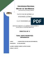 Laboratorio de Analisis Instrumental 3 - INFRARROJO