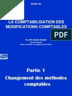La Comptabilisation Des Modifications Comptables