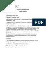Acción 5_reflexión Taller de Matemátca 2016 (Primer Semestre)