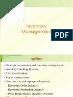 OSCM Ch7 Inventory Management