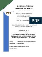 Laboratorio de Analisis Instrumental 4 - DETERMINACION DE FE