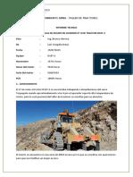 Reporte Falla de Motor D10T-3