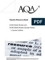 (2) Teacher Resource Bank GCSE Media Studies Course Outlines