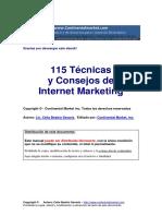 115 Técnicas y Estrategias Del Internet