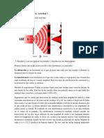 Difracción e Interferencia. Actividad 3 Unidad 4