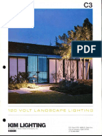 Kim Lighting 120 Volt Landscape Lighting Products Catalog 1977