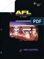Kim Lighting AFL Series Architectural Floodlights Brochure 1996