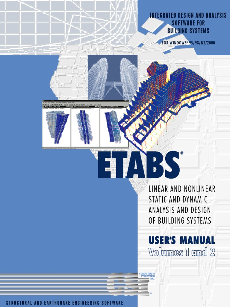 ETABS User's Manual | Installation (Computer Programs) | Graphical User  Interfaces