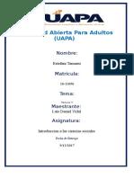 Tarea v Introduccion a Las Ciencias Sociales Uapa.