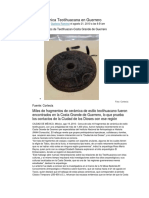Descubren Cerámica Teotihuacana en Guerrero