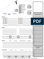 Hellfrost Character Sheet B&W