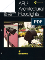 Kim Lighting AFL2 Series Architectural Floodlights Brochure 1993