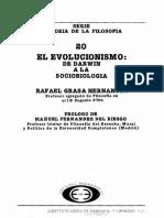 Grasa Hernandez Rafael. El Evolucionismo. De Darwin a la Sociobiología..pdf